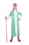 GREEN AND WHITE STRIPE SHEPHERD JOSEPH INN KEEPER FANCY DRESS COSTUME